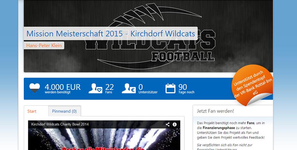 Wildcats starten Projekt Meisterschaft 2015