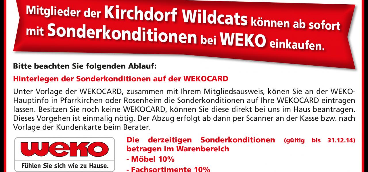 Wildcats kaufen günstig bei WEKO ein